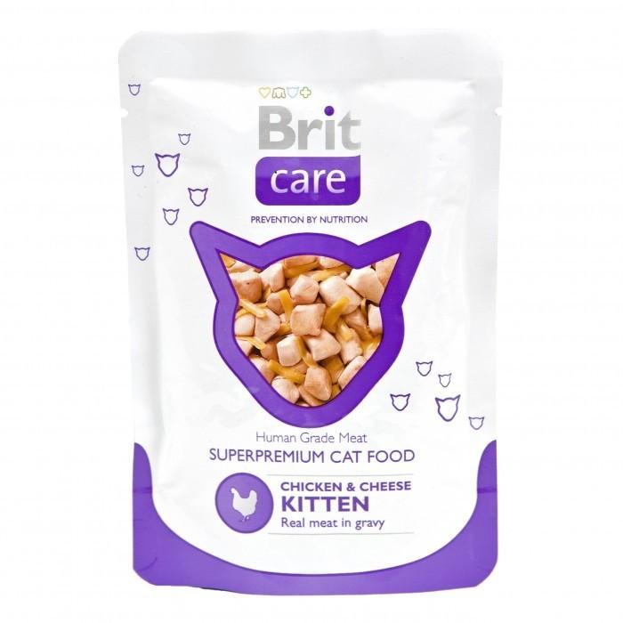 Boîte Chaton - Brit Care Sachet Poulet & Fromage  413933