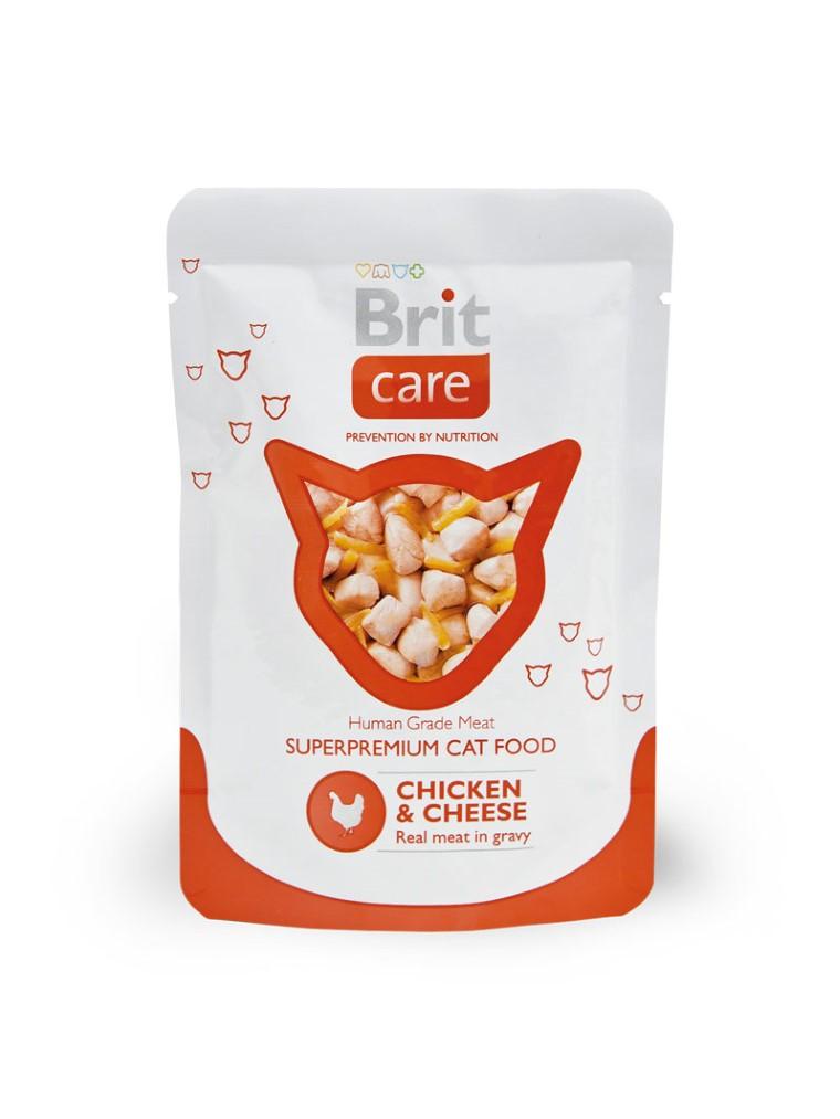 Boîte Chat - Brit Care Sachet Poulet & Fromage 413934