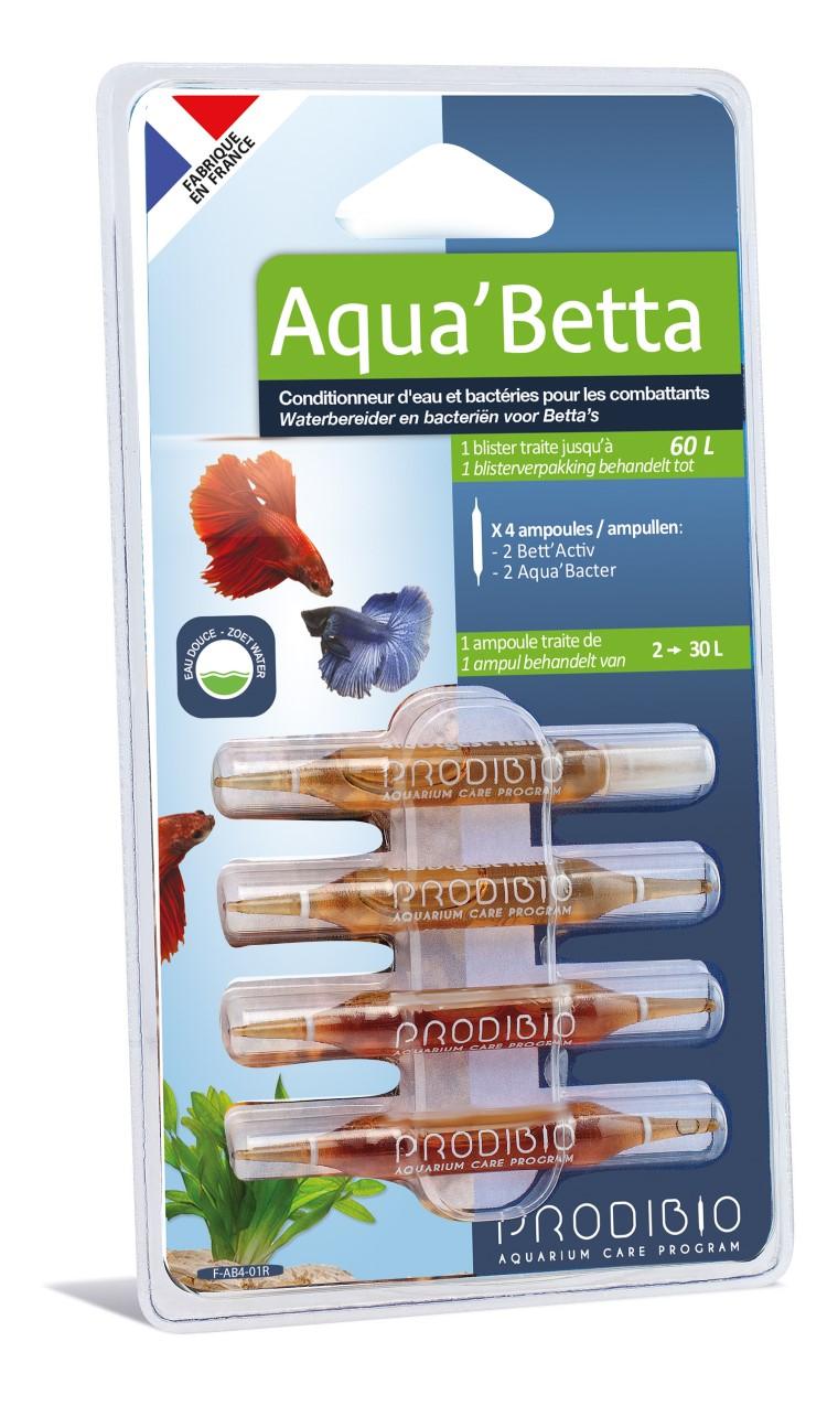 Traitement de l'eau - Prodibio Aqua'betta 4 ampoules 415315