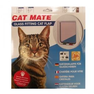 Chatière pour vitre blanche Cat Mate 424459