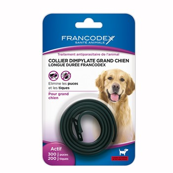 Collier antiparasitaire grands chiens Francodex 438033