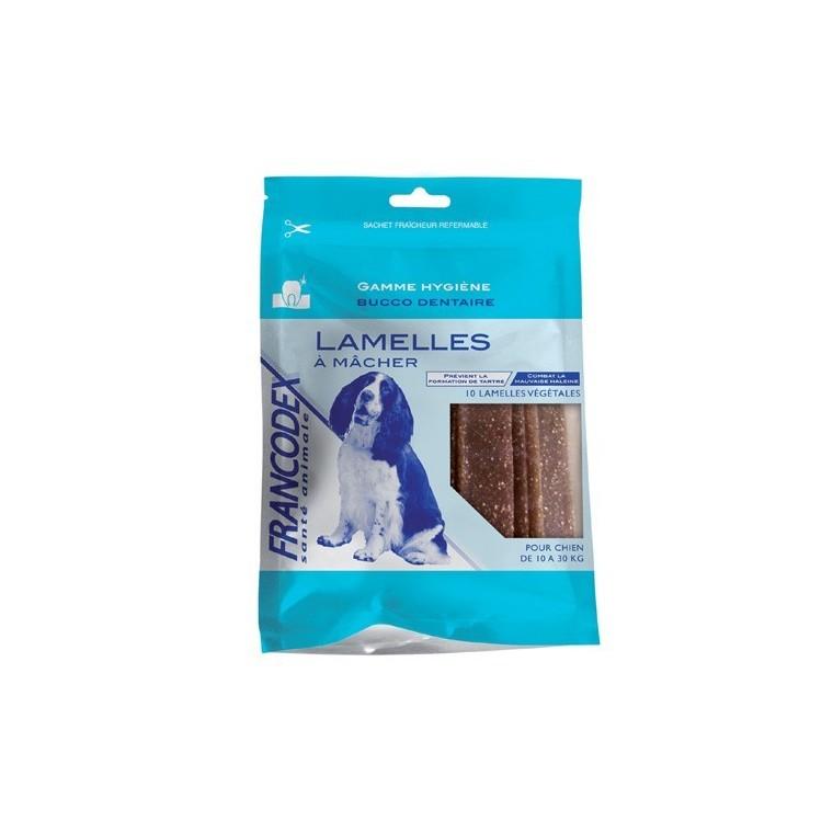 Friandises Chien - Francodex Lamelles à mâcher dentaires Francodex pour chiens moyens 440029