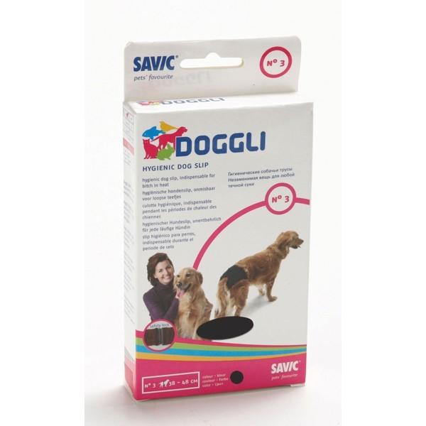 Culotte hygiénique t.3 pour chien noire Doggli Savic 47651