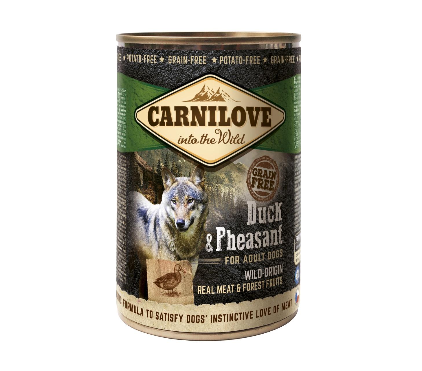 Boîte Chien - Carnilove Wild Meat Canard & Faisan