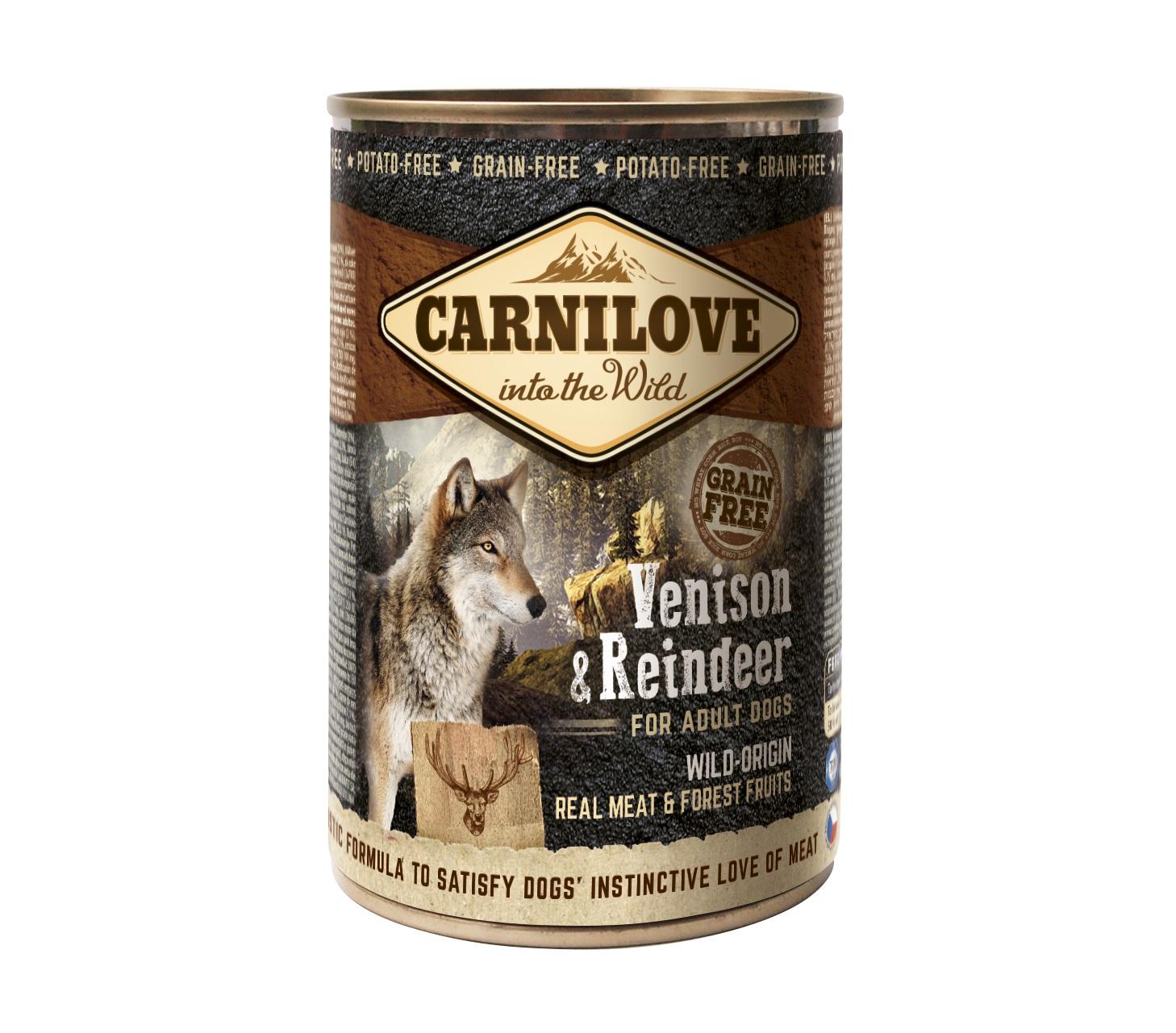 Boîte Chien - Carnilove Wild Meat Chevreuil & Renne