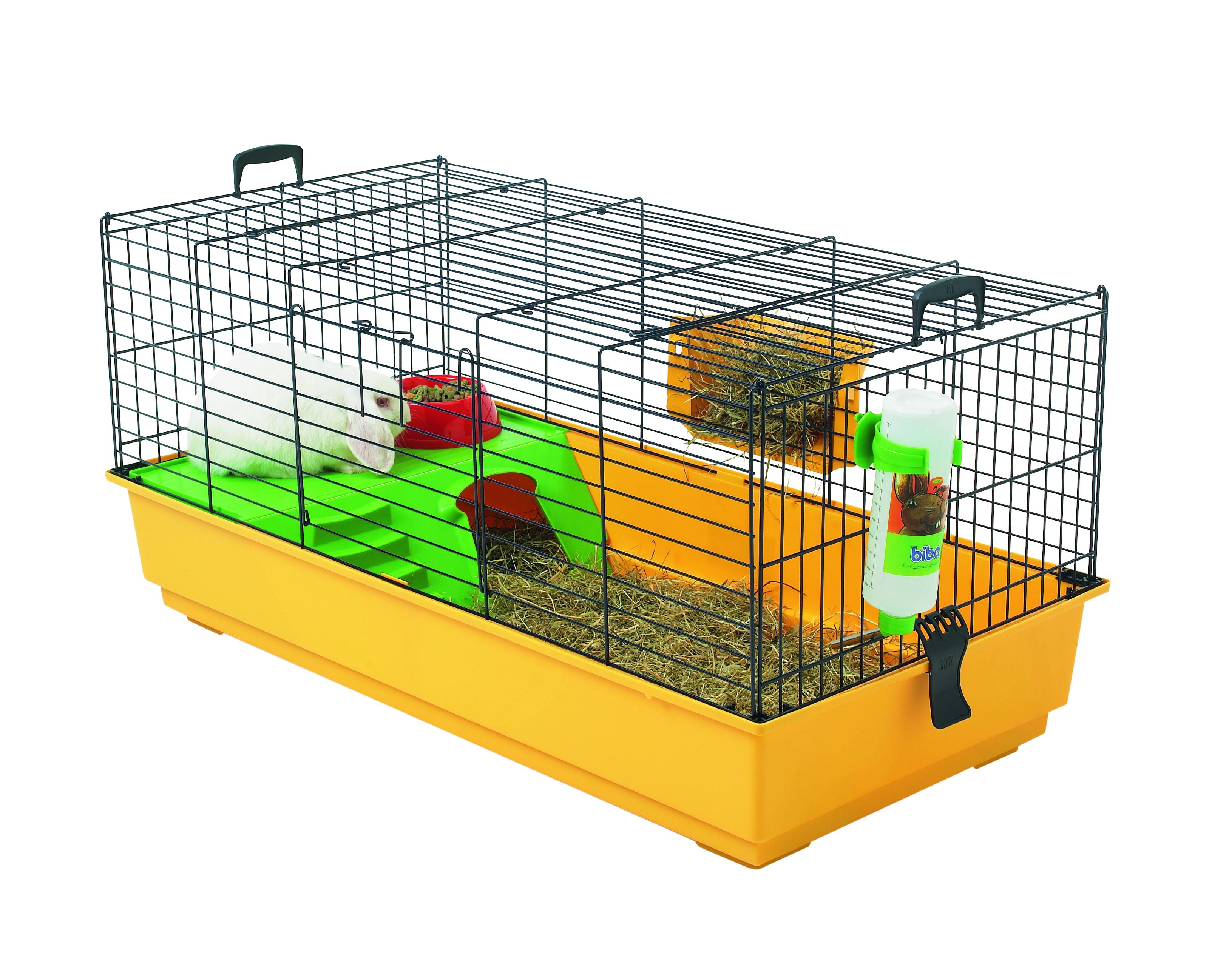 Cage Nero 2 De Luxe Jaune pour cobaye 80x50x44 cm