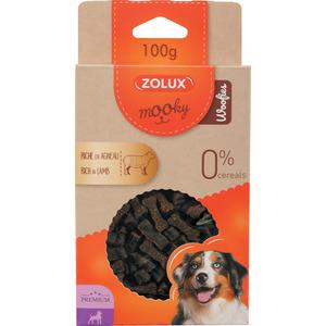 Friandises pour chien Mooky prem woofies agneau en étui de 100 g 506003