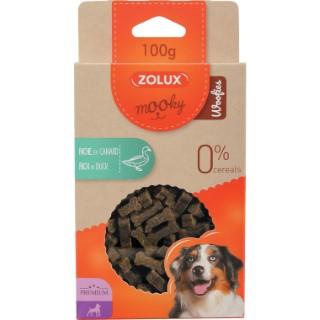 Friandises pour chien Mooky prem woofies canard en étui de 100 g 506004