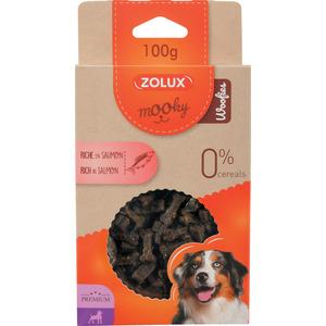 Friandises pour chien Mooky prem woofies saumon en étui de 100 g 506006