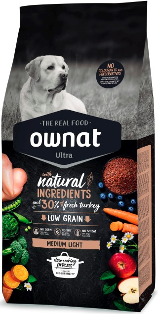Croquettes Chien - Ownat Ultra Medium Light Dog 14 kg 524143