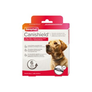 Collier antiparasitaire chien - Beaphar CaniShield - Taille L 65 cm 527517