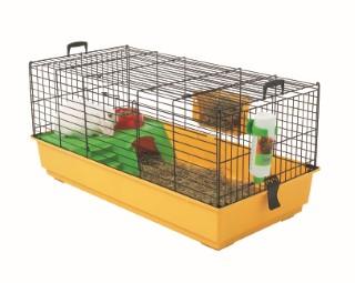 Cage Nero 2 De Luxe Jaune pour cobaye 80x50x44 cm 557264