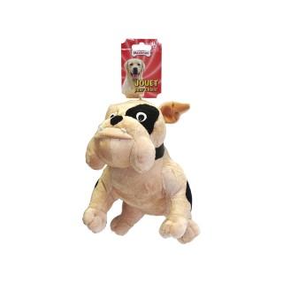 Jouet chien peluche bulldog 26cm 557771