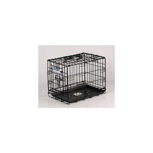 Cage de transport chien 90 cm noir 51415