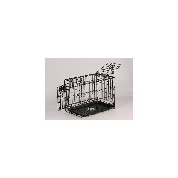 Cage de transport chien 105 cm noir 51416