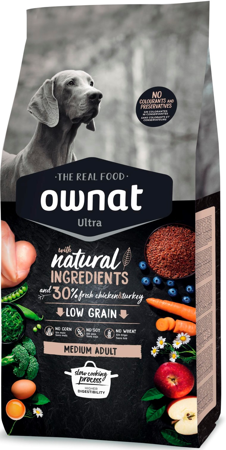 Croquettes Chien - Ownat Ultra Medium Adult Dog 14 kg 524138