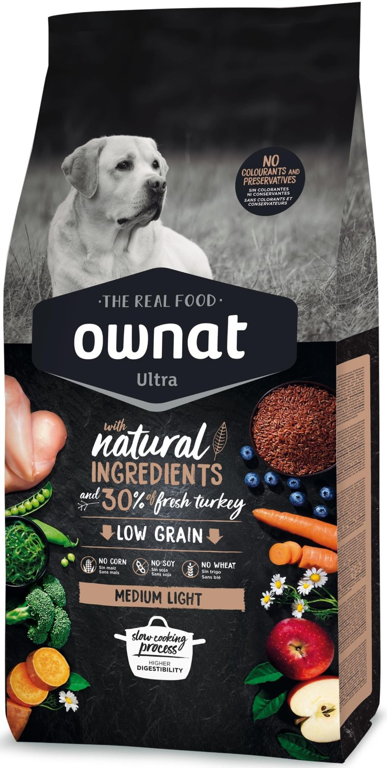 Croquettes Chien - Ownat Ultra Medium Light Dog  3kg 524142