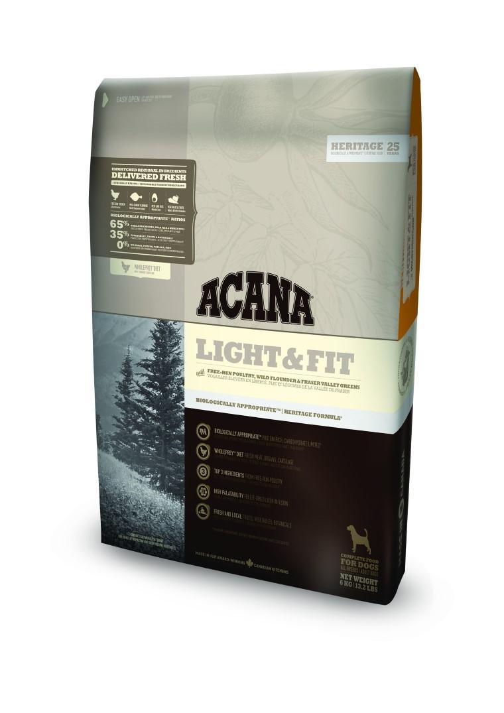 Croquettes Chien Adulte - Acana® Heritage Light & fit 2kg 534143