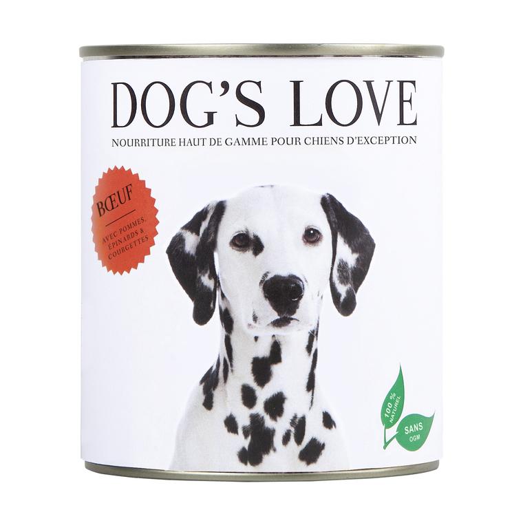 Boîte Naturelle Chien – Dog's Love Bœuf 800 gr 535991
