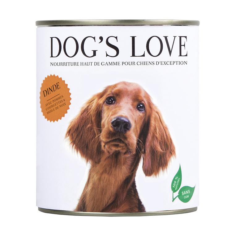 Boîte Naturelle Chien – Dog's Love Dinde 800 gr 535992
