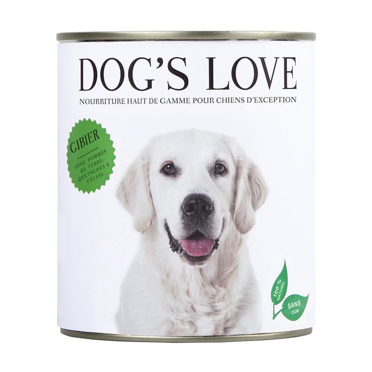 Boîte Naturelle Chien – Dog's Love Gibier 800 gr 535993