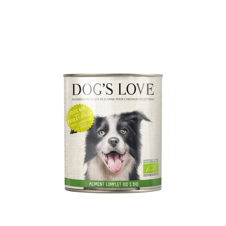 Boîte Chien – Dog's Love bio Poulet 200 gr 535999
