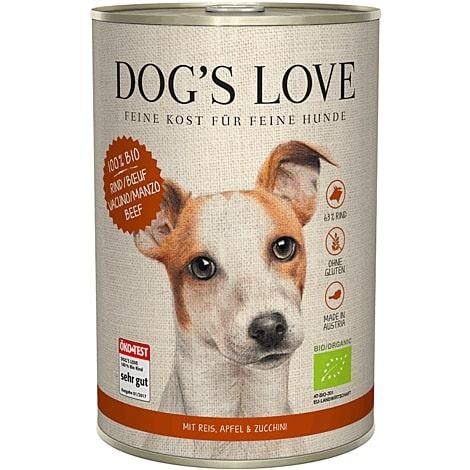 Boîte Chien – Dog's Love bio Bœuf 400 gr 536001