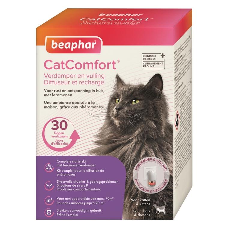 Phéromones apaisantes pour chat - Diffuseur et Recharge Beaphar CatComfort 536459