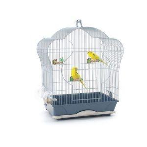 Cage oiseaux Elise 40 argent Savic 557268
