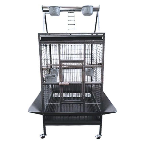 Cage perroquet large noire / grise 557795