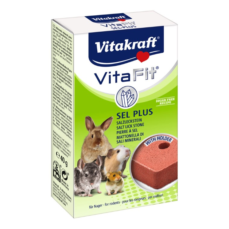 Bloc minéral Sel Plus pour rongeurs Vitakraft® 40g 56957