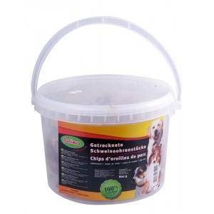 Friandises Chien - Bubimex Chips d'oreilles de porc en seau 800g 572623