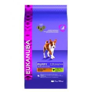 Croquettes Chien - Eukanuba moyenne race puppy 15kg 57467