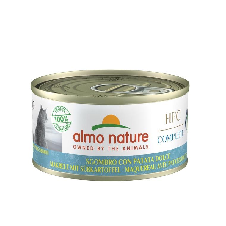 Boîte Chat – Almo Nature HFC Complete Maquereau avec Pomme de terre douce 70 gr