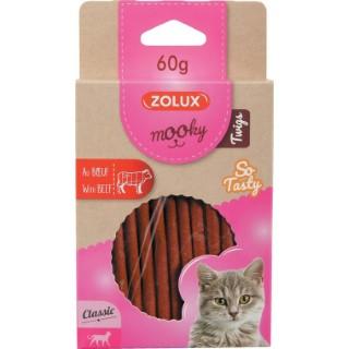 Friandises pour chat Mooky Twigs boeuf en étui de 60 g 606900