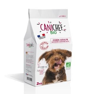 Croquettes Chien Adulte medium maxi - Canichef Bio Moyenne et Grande Race 2kg 612430