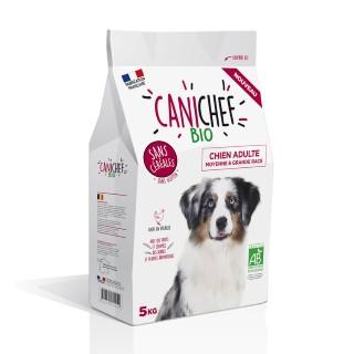 Croquettes Chien Adulte medium maxi - Canichef Bio Sans Céréales Moyenne et Grande race 5kg 612434