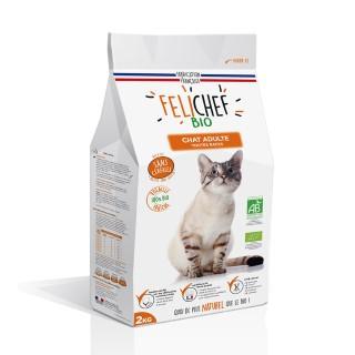Croquettes Chat - Felichef Bio adulte sans céréales 2kg 612439