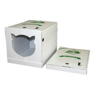 Maison de toilette de voyage avec litière 615303
