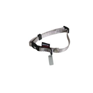 Collier chien réglable 10mm / 20-30cm gris 626670