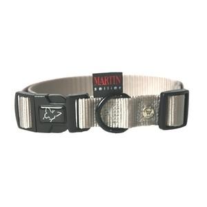 Collier chien réglable 16mm / 30-45cm gris 626673