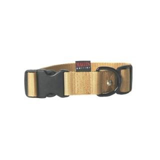 Collier chien réglable 40mm / 50-70cm jaune 626682