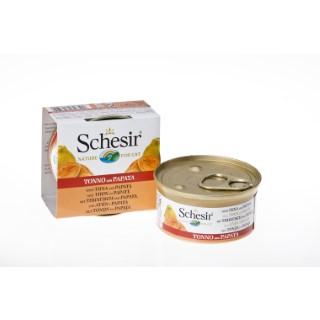 Boîte Chat - Schesir® Pâtée au Thon avec morceaux de Papaye - 75g 633323