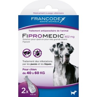 Pipettes antiparasitaires chien Fipromedic 40-60kg x2 637991