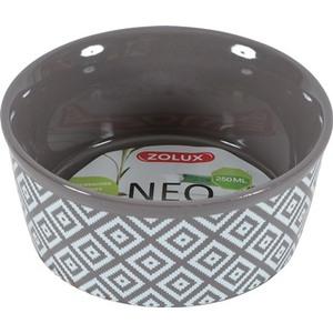 Ecuelle Néo 250 ml en grès gris motifs blancs Ø 12,1 x H 4,7 cm 651972