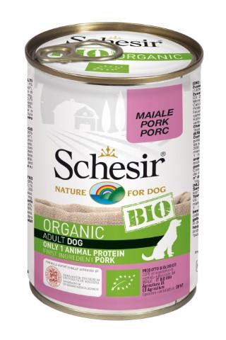 Boîte Chien - Schesir Pâtée Bio au Porc - 400g 672777