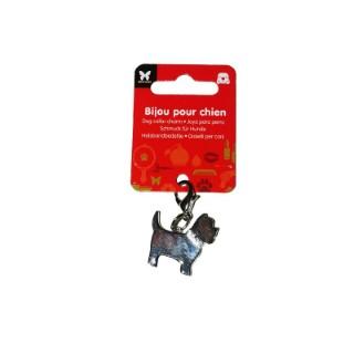Bijou chien fox terrier strass 678861