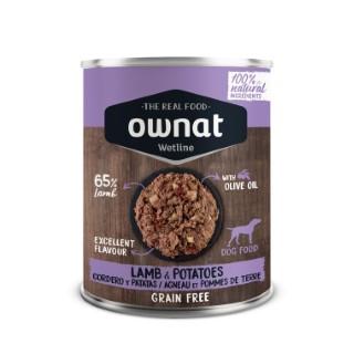 Boîte Chien - Ownat Wetline Sans céréales - Agneau et Pomme de terre - 400g 686587