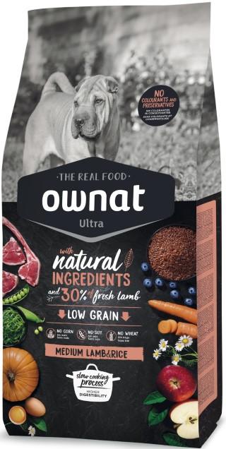 Croquettes Chien - Ownat Ultra Medium Adult Dog  Agneau et Riz 3 kg 686589