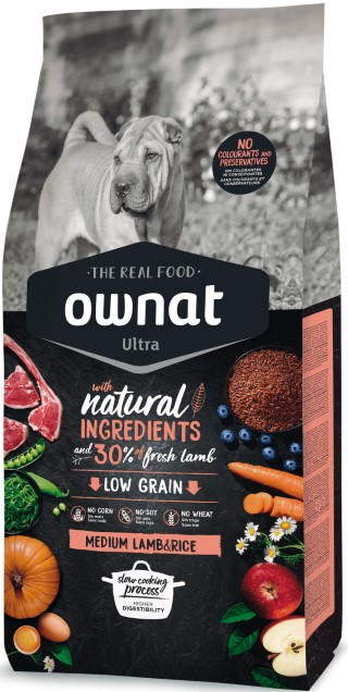 Croquettes Chien - Ownat Ultra Medium Lamb & Rice 14kg 686590